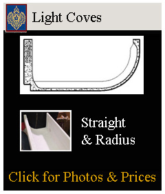 straight and curved light coves
