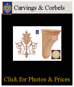 carvings and corbels, mission style corbels, appliques