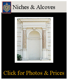 niches and alcoves for statues