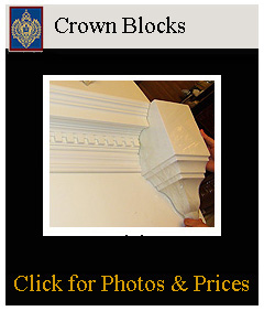 termination blocks end crown moldings