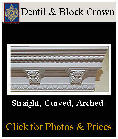 integrated dentil and modillion blocks with crowns